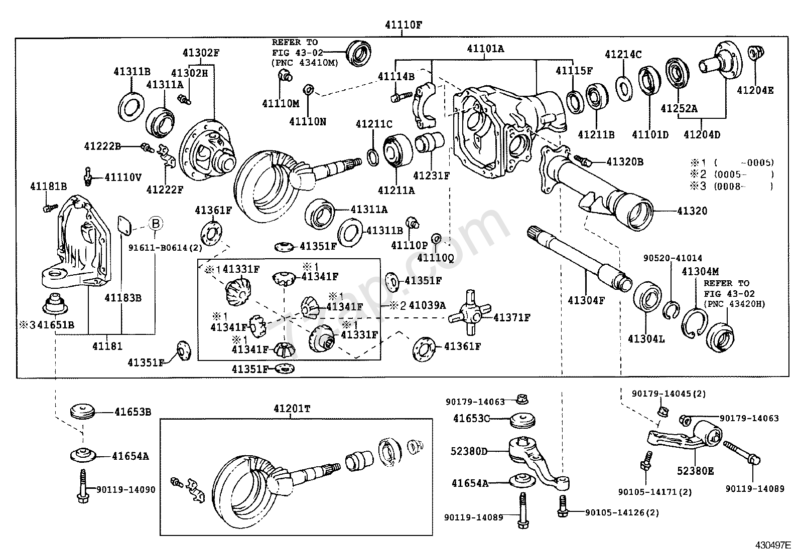 front axle housing  u0026 differential  illust no  1 of 2 9908