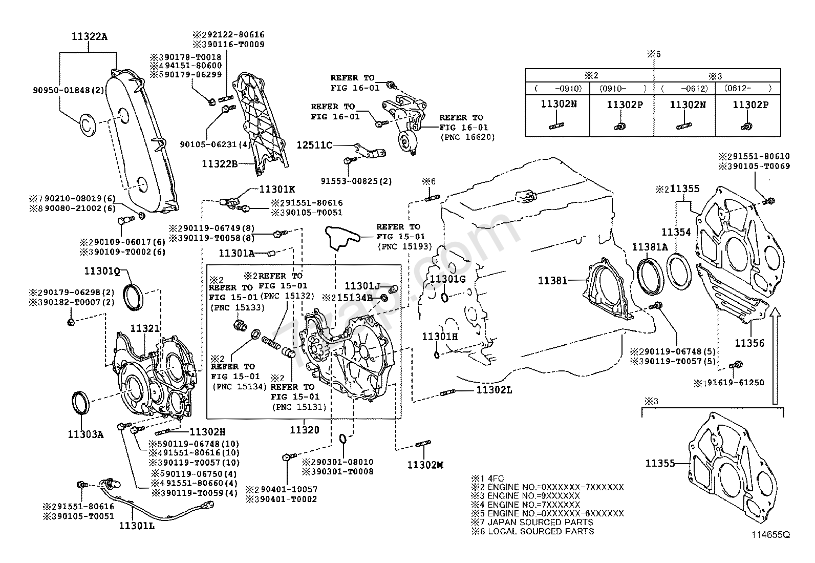 Toyota 3 4 Engine Diagram Electrical Wiring Diagrams 22r Hiace Database Parts Timing Gear Cover