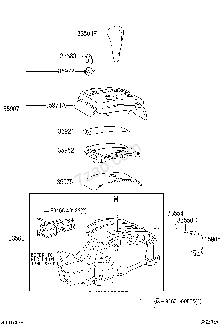 Shift Lever Retainer Illust No 1 Of 20402 4fc Toyota Corolla Zze122 Wiring Diagram Part Code Title Information I