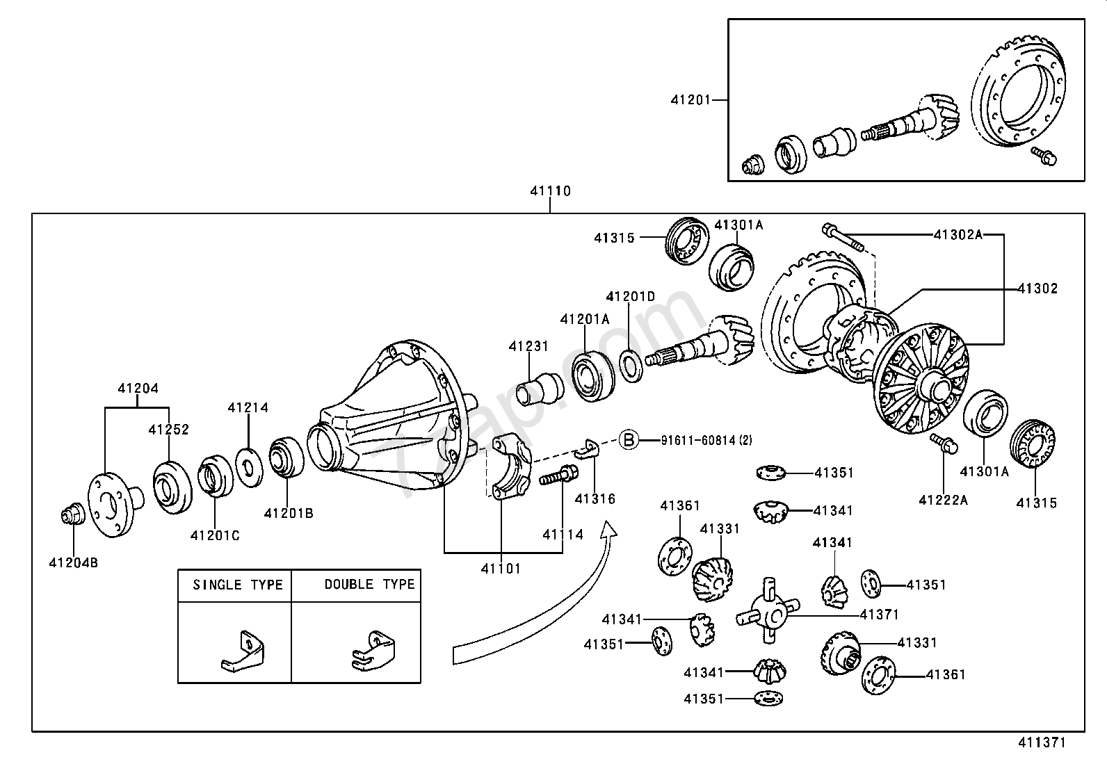 rear axle housing  u0026 differential  illust no  1 of 3 0105