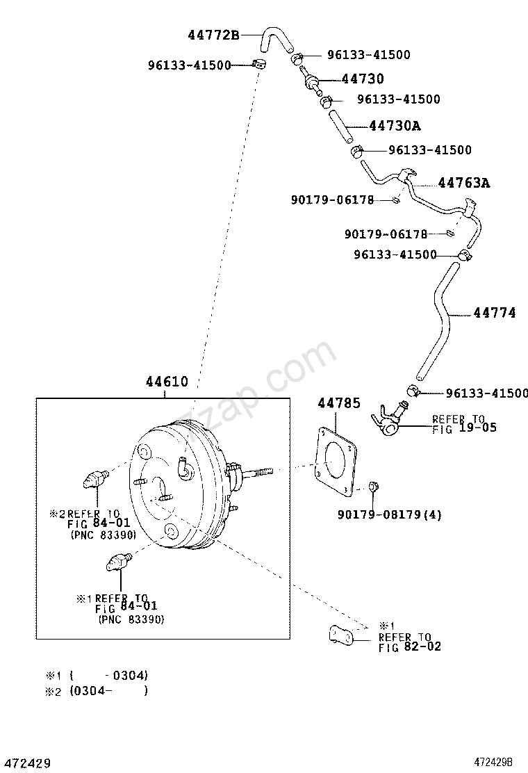 Toyota Previa Vacuum Hose Diagram Electrical Wiring Diagrams Plug Brake Booster Tube Acr30clr30 Asia And Starter