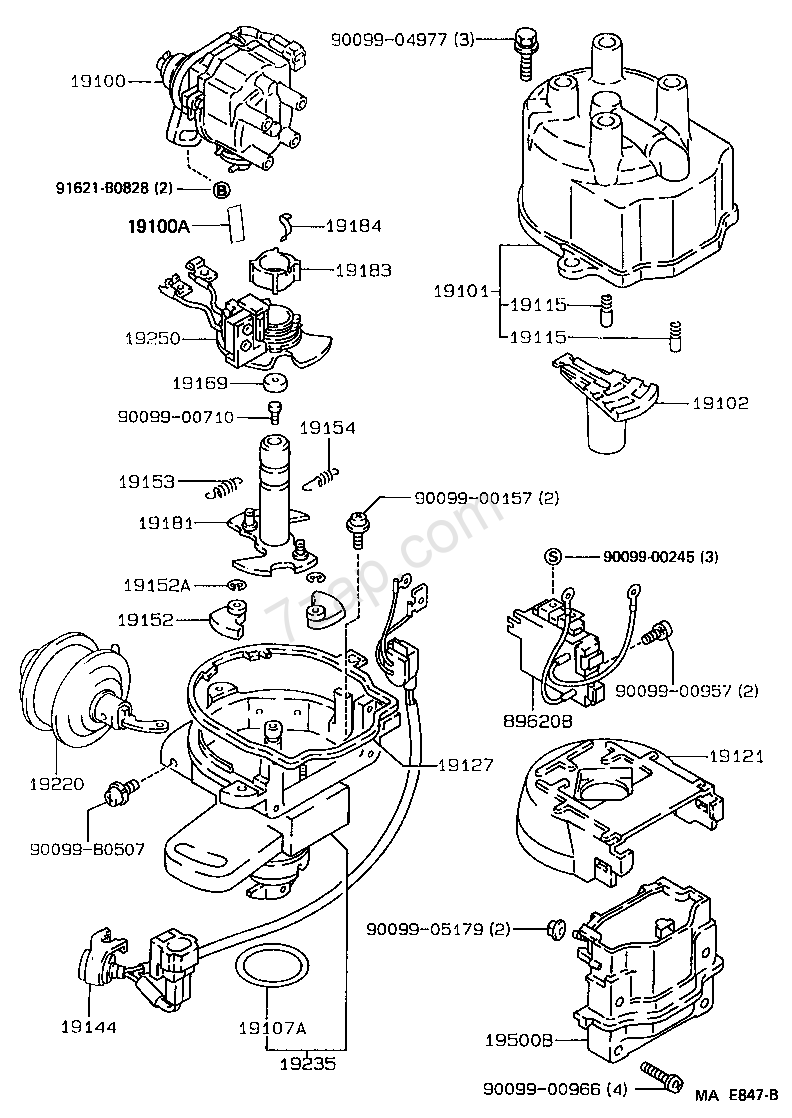 distributor toyota corolla  ae10  ce100 ee10    asia and middle east