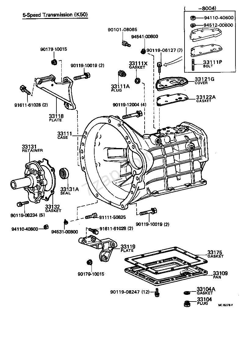 Fios Ideal Wiring Diagram Diagrams Instructions Ke70 Manual 1983 Toyota Corolla Sedan Array Clutch Housing U0026 Transmission Case Mtm Ke70ae71 Rh