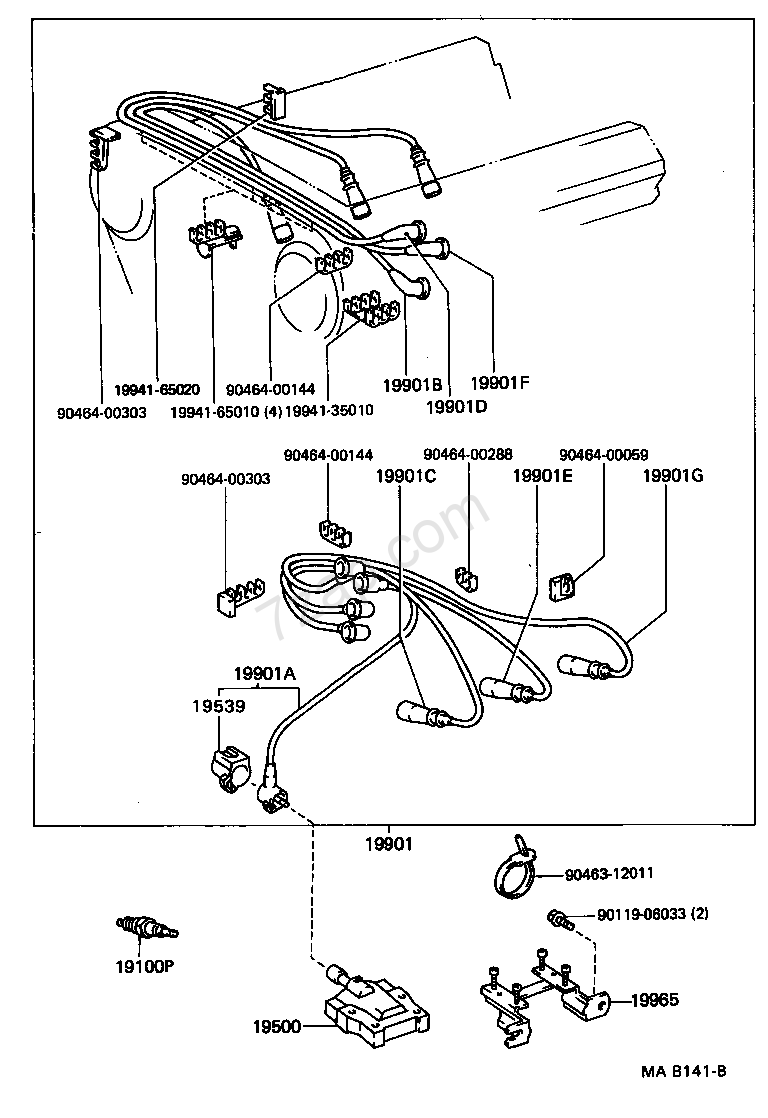 92 tercel engine diagram