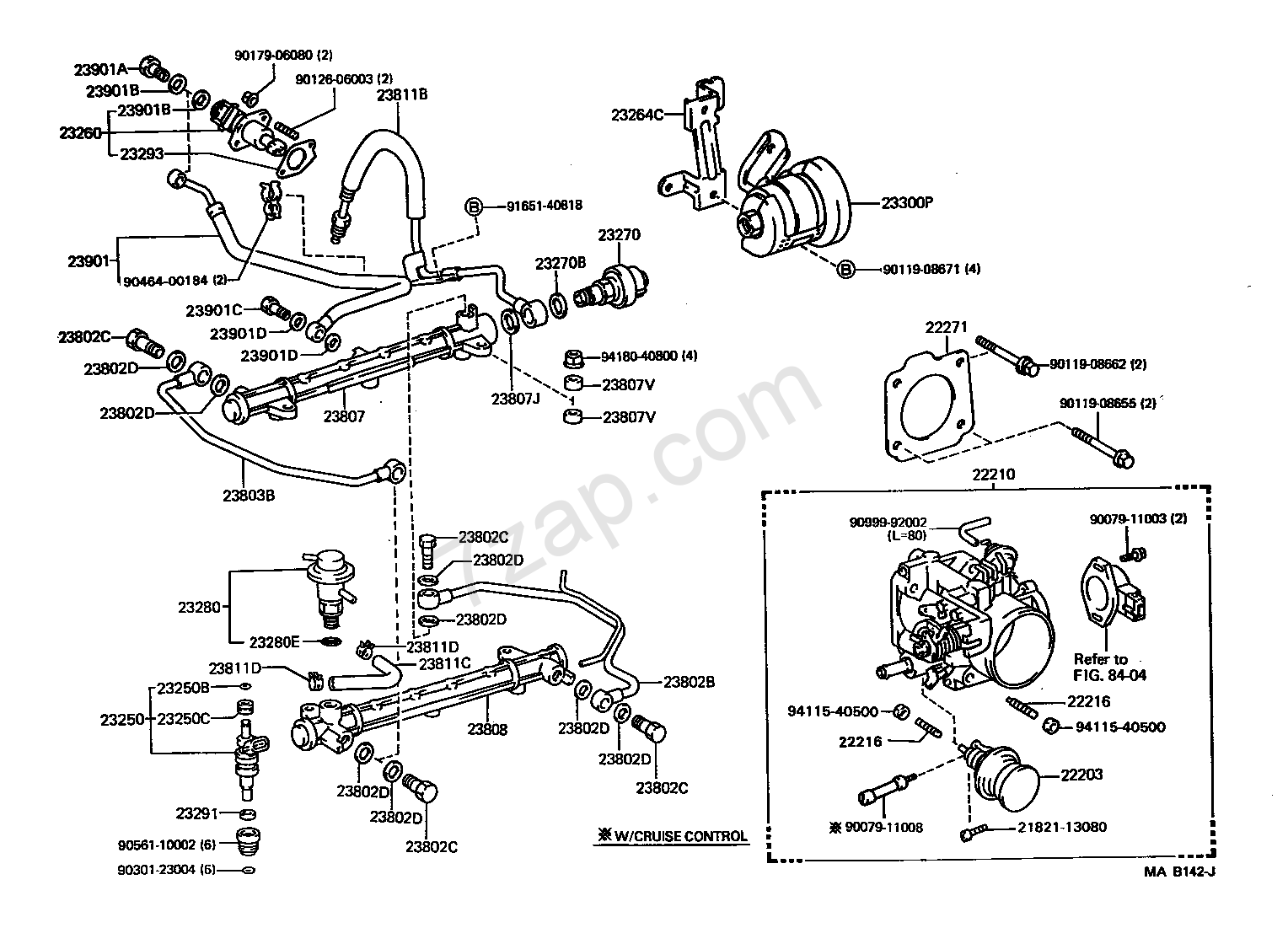 toyota t100 heater hose diagram